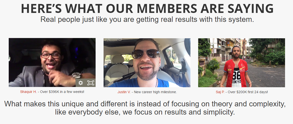 Some four percent group affiliate success stories and results
